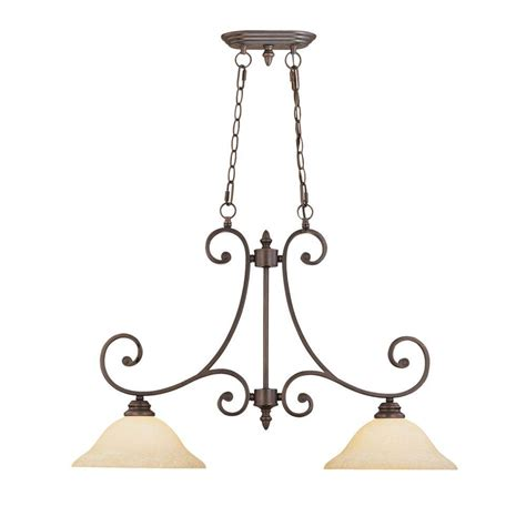 glass kitchen lighting millennium lighting 2 light rubbed bronze island light 1232