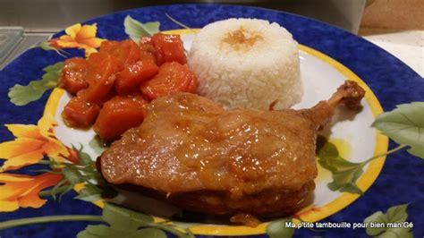 recette cuisses de canard et carottes 224 l orange ww au cookeo cookeo mania