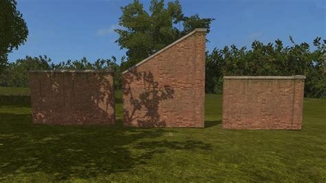 wall ls in placeable brick walls to place around maps v1 0 fs17