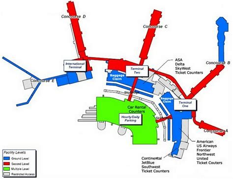 The full menu is available to view. Slc Airport Terminal Map | International Map
