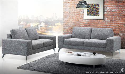canapé 3 et 2 places pas cher canape 2 places en tissu gris clair canap design en