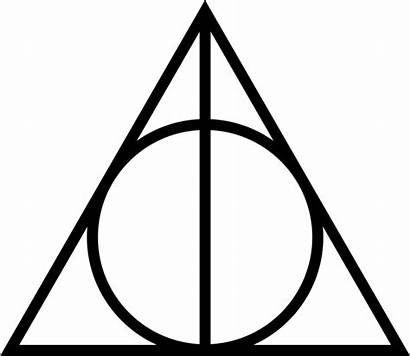 Deathly Triangle Symbol Head Hollows Circle Line