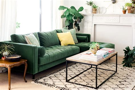 green sofa my new green sofa the house that lars built