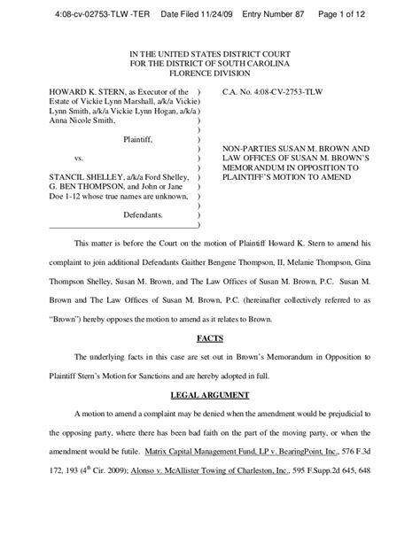cook county mechanics lien form brown opposition to plaintiff motion to amend complaint