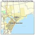 Aerial Photography Map of Alpena, MI Michigan