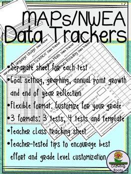 nwea maps data tracking sheets  growingroots tpt