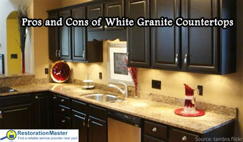 pros and cons of white granite countertops