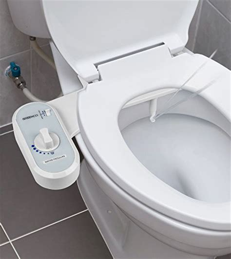 greenco bidet fresh water spray non electric mechanical bidet toilet seat attachment fixtures