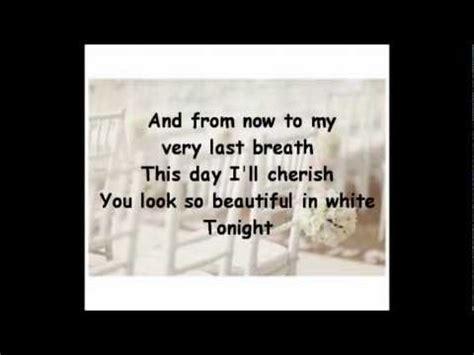 Beautiful In White Lyrics Shane Filan Youtube