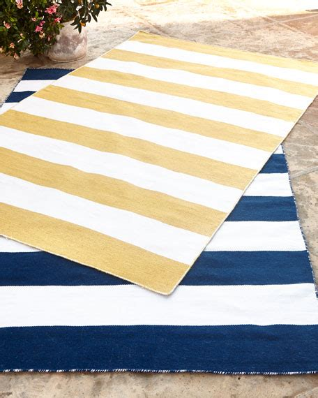 yellow striped rug rugby stripe indoor outdoor rug