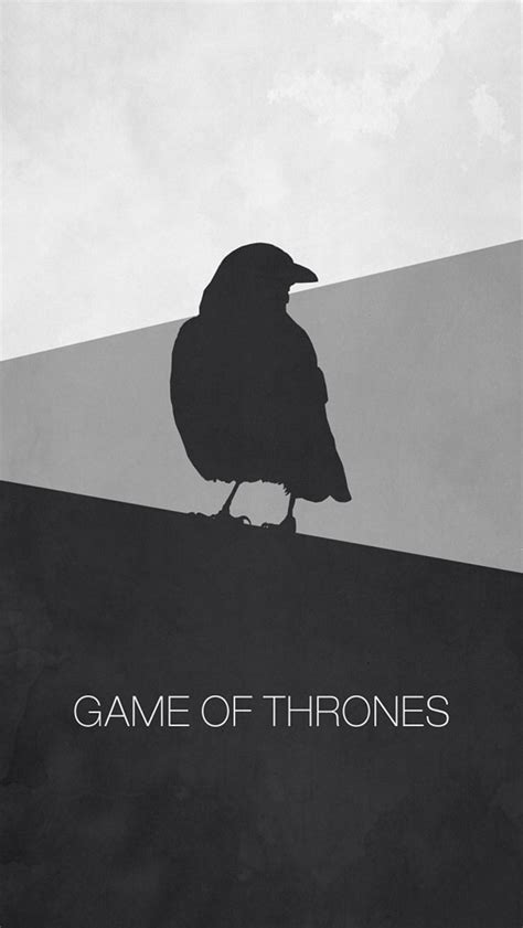 game thrones minimal raven iphone wallpaper hd