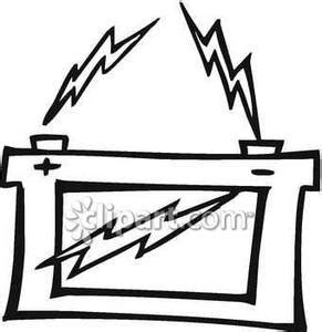zap clipart black and white black and white zapping car battery royalty free clipart