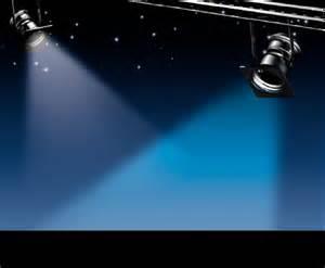 Light Blue Spotlight Clip Art