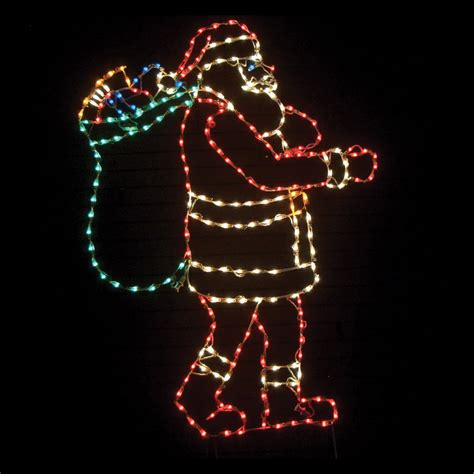 83 in outdoor led santa with bag lighted display 250