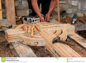 Craftsman carving wood stock image Image of hand, board