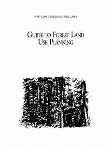 Guide To Forest Land Use Planning