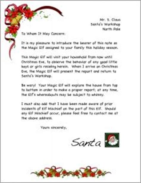 magic elf letter red swirl  santa