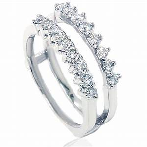 wedding ring engagement insert ring diamond guard ring With wedding ring guard bands