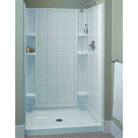36 Shower Stall - sterling ensemble white vikrell 3 alcove shower