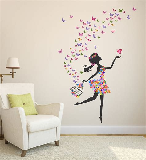buy pvc vinyl dreamy girl  flying colourful