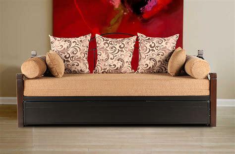 buy rosette mild steel sofa cum bed  black colour