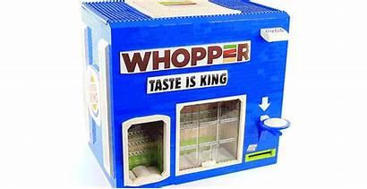 Lego Burger King Machine Vending Dispensing Masterpiece