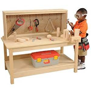 Wood Food Pantry by Amazon Com Wooden Workbench With Vise Toys Amp Games