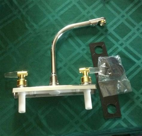 rv kitchen faucet replacement rv motorhome camper replacement 2 tone kitchen