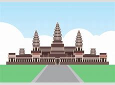 Angkor Wat Cambodia Landmark Illustration Download Free