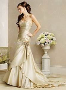 champagne colored wedding dresses With champagne color wedding dress