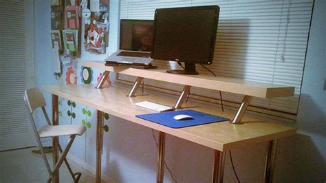 Lifehacker Standing Desk Ikea by Build A Diy Wide Adjustable Height Ikea Standing Desk On