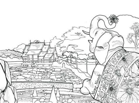 pocket posh panorama adult coloring book gardens unfurled