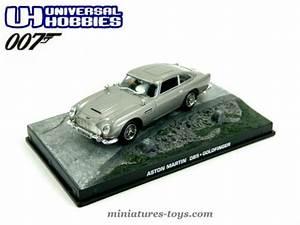 Aston Martin Miniature : l 39 aston martin db5 de james bond en miniature par universal hobbies au 1 43e miniatures toys ~ Melissatoandfro.com Idées de Décoration