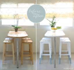 mini kitchen makeover paint dipped ikea chairs ikea hackers ikea hackers