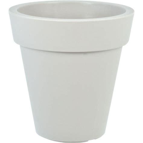 home depot plastic planters mela 15 in dia white plastic planter 83300 the