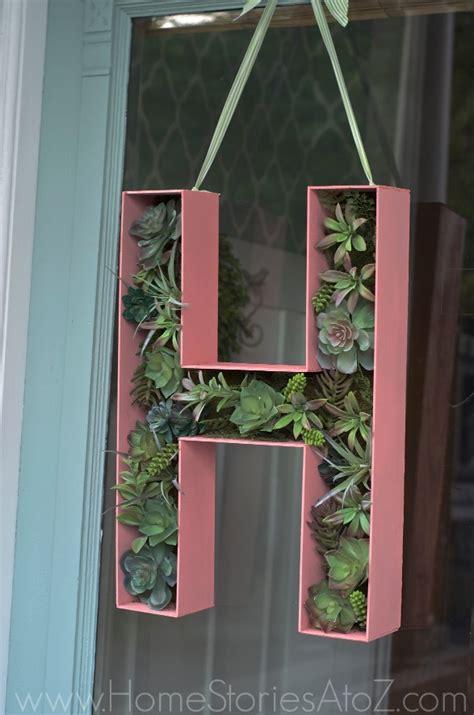 door decor      wood letter monogram wreath