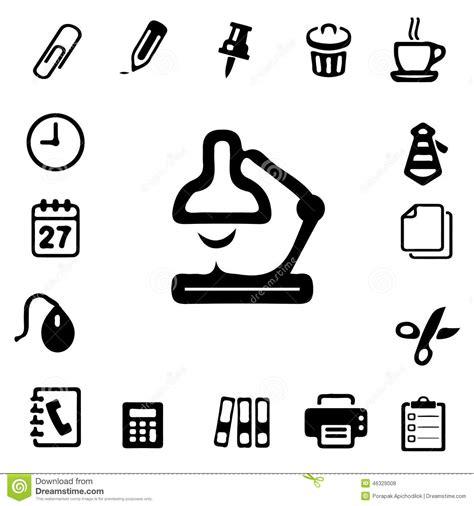 icones bureau icônes de silhouette de bureau illustration stock image
