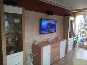 Wandregal Für Fernseher : natursteinwand wohnzimmer mit fernseher ~ Michelbontemps.com Haus und Dekorationen
