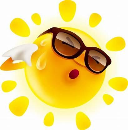 Sun Feeling Clipart Transparent Perspiration Material Clip