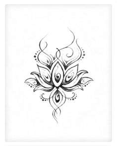 Traditional Lotus Flower Tattoo Design With Ohm Sign … | Tattoos | Pinte…