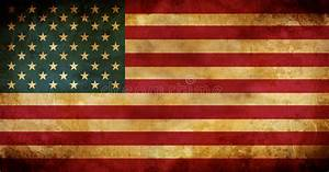 Aged Usa American Flag Stock Photo  Image Of Nationality