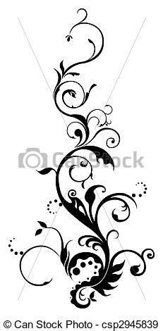 line art vines - Google Search   Flower vine tattoos