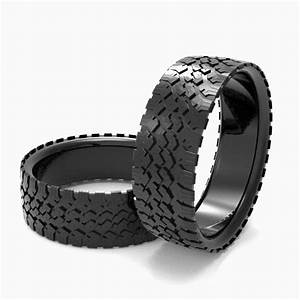 buy a hand made mens39 tire wedding band black silver tire With tire wedding ring