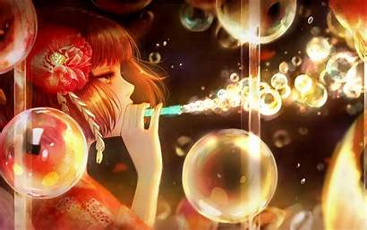Anime Bubble Soap Bubbles Blowing Character Paper