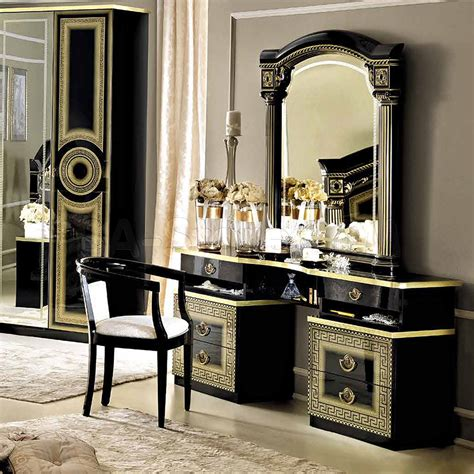 Black Bedroom Vanity Set by Sale 1156 00 Aida Vanity Dresser And Mirror In Black