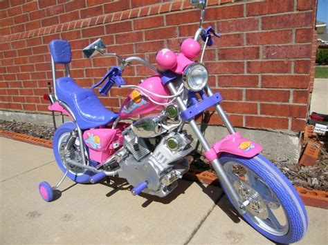 Girls Pink And Purple Battery Power Ride On Harley Style