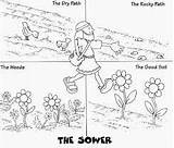 Parable Sower Parables sketch template