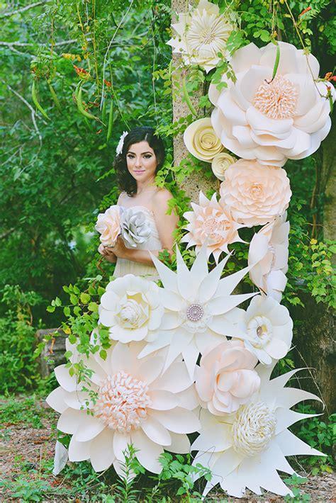 giant paper flower wedding inspiration  layer cake