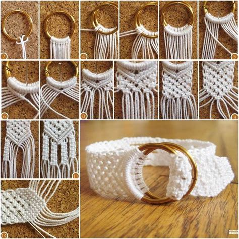 diy  ring closure macrame bracelet  tutorial