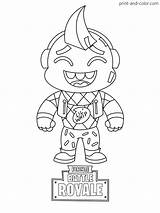 Fortnite Print Coloring Pages Printable Skin Cartoon Sheets Boys Colouring Lil Season Whip Drawings Cute Drawing Easy Cool Marshmello sketch template